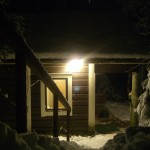 sauna by night