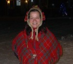 a woman in traditional sami clothes